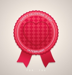Round label for Valentines Day vector