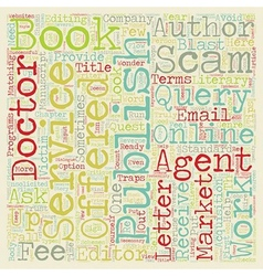 scams schemes and shams who can an author trust vector image