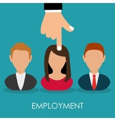 Search and find employment vector
