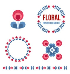 set design elements - retro flowers vector image
