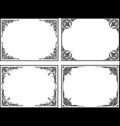 set of frames for your design vector image