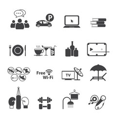 sport club icons set vector image