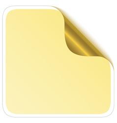 Sticker corner with metallic backs vector