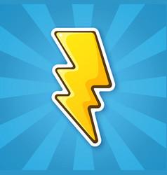 Sticker electric lightning bolt vector