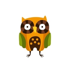 Stylized owl standing camping and hiking outdoor vector