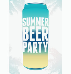 summer beer party typography vintage poster vector image