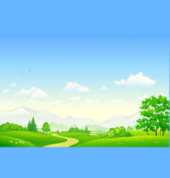 Summer country park vector
