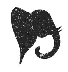 the head of an elephant the indian god ganesh vector image