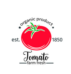 tomato badge label for markets and menu vector image