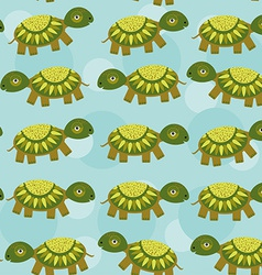 turtle Seamless pattern with funny cute animal on vector image