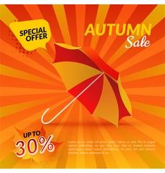 Umbrella Autumn sale vector image vector image
