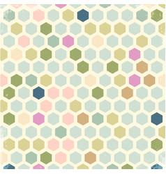 Vintage hexagon background vector