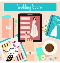 Wedding store concept flat vector image