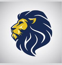 Wild lion icon cool logo template vector