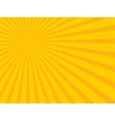 Yellow abstract sun rays Eps 10 vector image