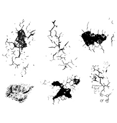 Crack decay texture vector image vector image