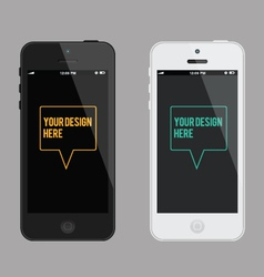 phone mock-up template vector image vector image