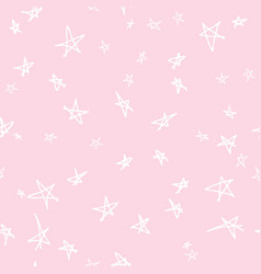 seamless pattern design with sketchy stars vector image vector image