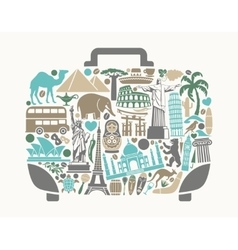 A symbol of tourism and travel vector image vector image