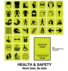 Make your own Health and Safety signs vector image vector image