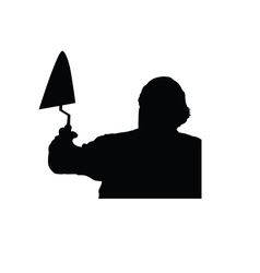 worker silhouette vector image