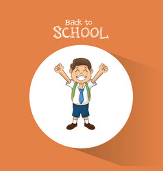 back to school student boy happy uniform tie vector image vector image