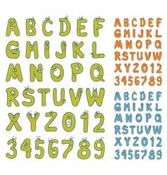 cartoon abc set vector image vector image