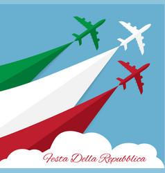 republic day in italy vector image vector image