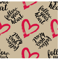 seamless pattern from pink hearts vector image vector image