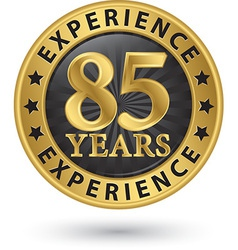 85 years experience gold label vector image vector image