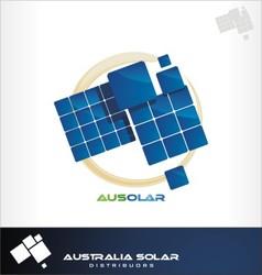 australia solar logo vector image vector image