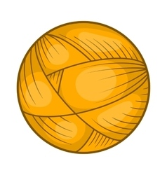 Ball of wool yarn for knitting icon cartoon style vector image