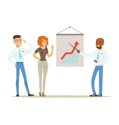 business partners planning work and strategies vector image