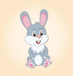 cartoon easter bunny rabbit vector image