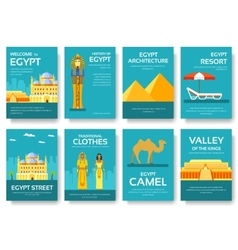 Country Egypt travel vacation guide of goods vector image