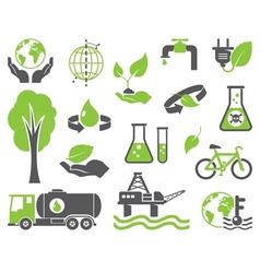Green planet symbols vector