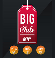 shopping label tags vector image