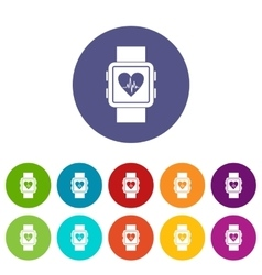 Smartwatch set icons vector image vector image