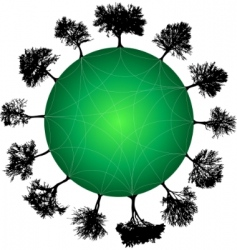 tree planet vector image vector image