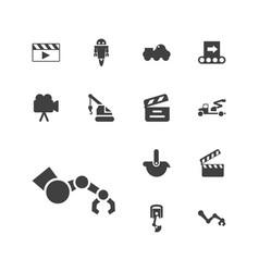 13 production icons vector