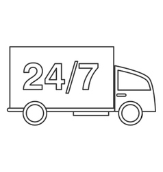 24 7 truck transport service vector