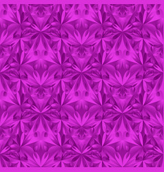 Abstract geometrical purple floral mosaic pattern vector