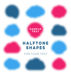 abstract halftone shapes vector image