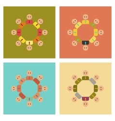 Assembly flat icons gay community vector
