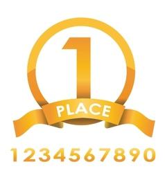 Award badge golden vector image