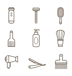 Barber Icons vector image
