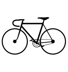 bicycle black silhouette vector image