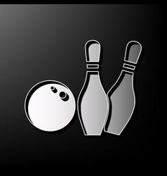 bowling sign gray 3d printed vector image