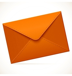 Brown empty mail envelope vector