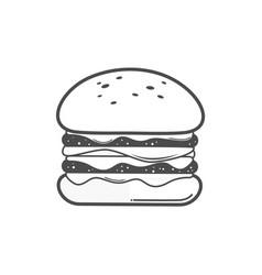 Burger icon line art vector